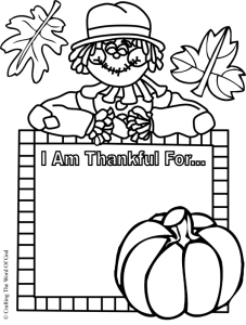 I Am Thankful- Activity Sheet « Crafting The Word Of God