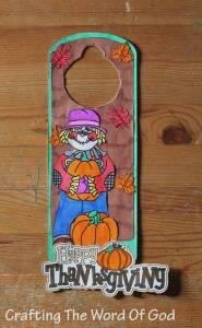Scarecrow Door Knob Hanger