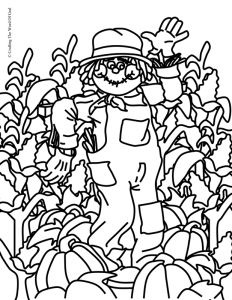 Thanksgiving Coloring Page 1- Coloring Page « Crafting The