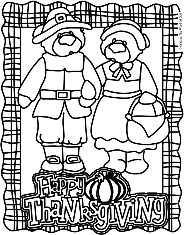 Thanksgiving Coloring Page 2 Coloring Page \u00ab Crafting The Word Of God