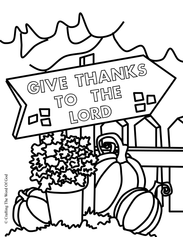 Thanksgiving coloring page 3 coloring page crafting the for Christian thanksgiving coloring pages for kids