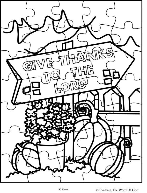 thanksgiving coloring pages for church | Thanksgiving Puzzle 8- Activity Sheet « Crafting The Word ...