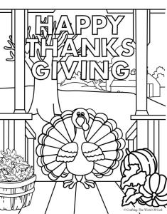 Happy Thanksgiving 4- Coloring Page « Crafting The Word Of God