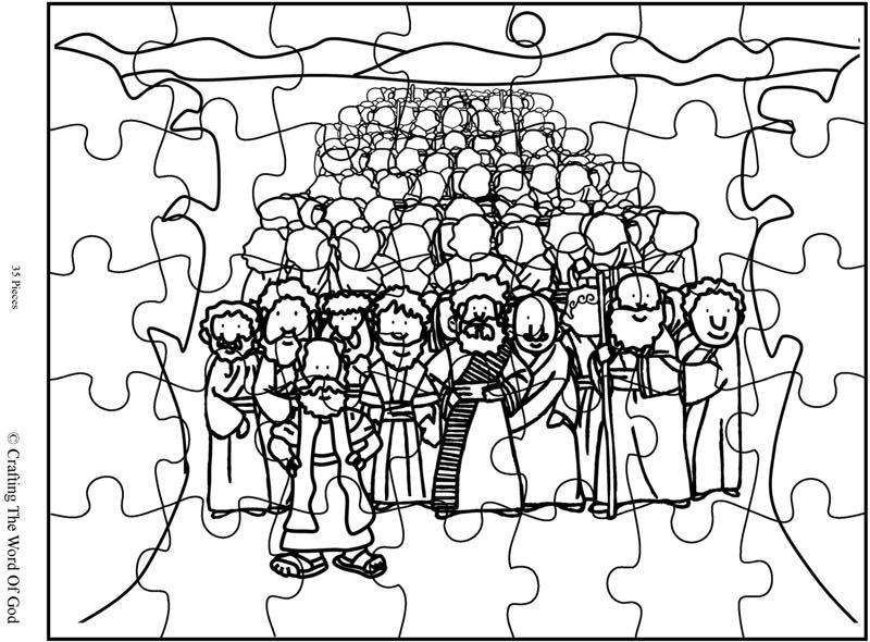 Crossing The Red Sea Puzzle Activity Sheet 171 Crafting The