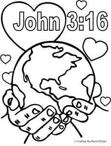 john 3 16 coloring pages John 3:16 coloring page « Crafting The Word Of God john 3 16 coloring pages