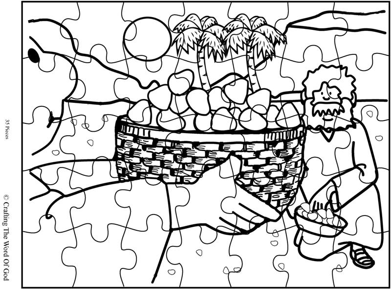 Mana From Heaven Puzzle Activity Sheet Crafting The Word Of God