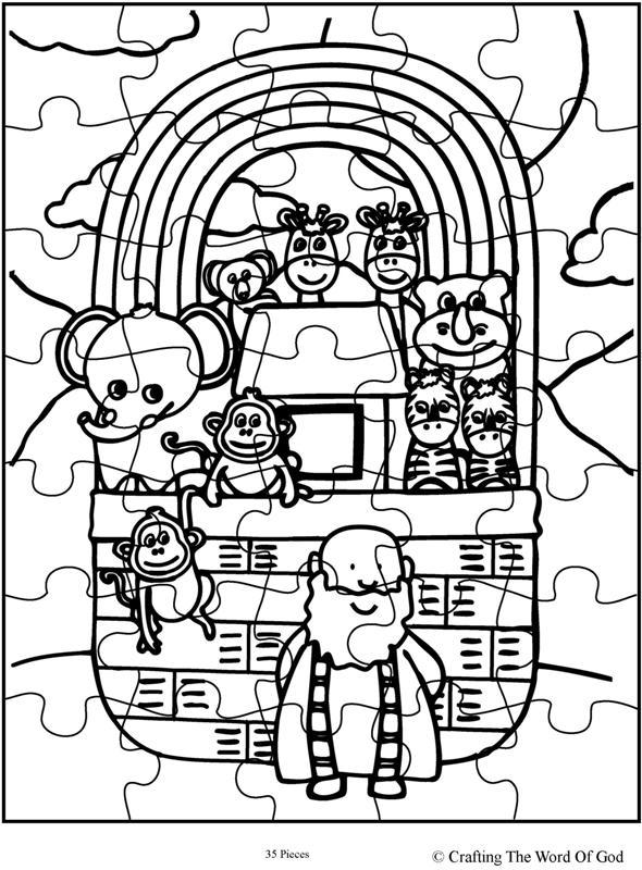 Noahs Ark Puzzle Activity Sheet