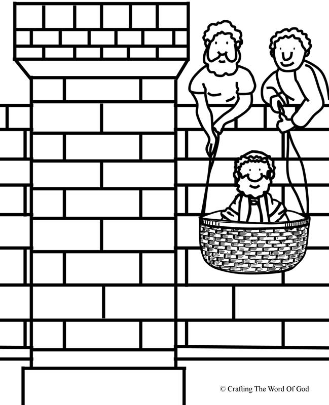 Paul Lowered In A Basket Coloring Page 171 Crafting The