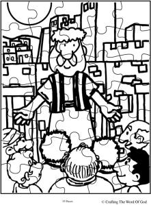 Peters First Sermon Puzzle- Activity Sheet « Crafting The