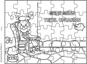 Daniel Writing On The Wall Coloring Page Coloring Pages