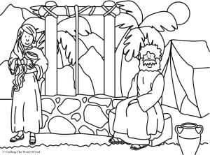 Woman At The Well Coloring Page Crafting The Word Of God