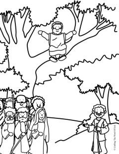 Zacchaeus Come Down Coloring Page Crafting The Word Of God