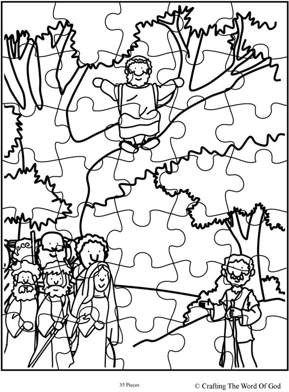 Zacchaeus Come Down Puzzle Activity Sheet 171 Crafting The