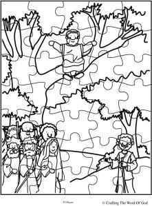 Zacchaeus Come Down Puzzle
