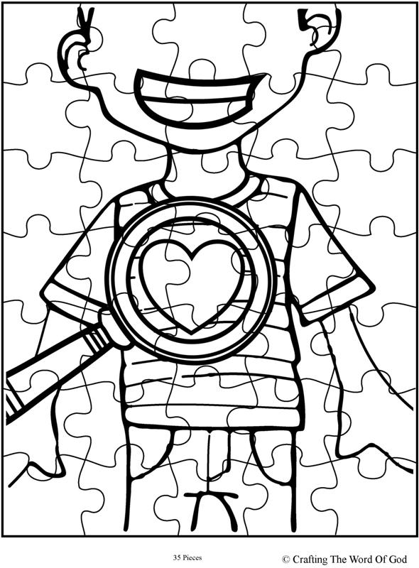 God Searches Hearts Puzzle- Activity Sheet « Crafting The ...