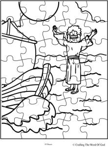 Jesus walks on water puzzle activity page crafting the for Jesus walks on water coloring pages