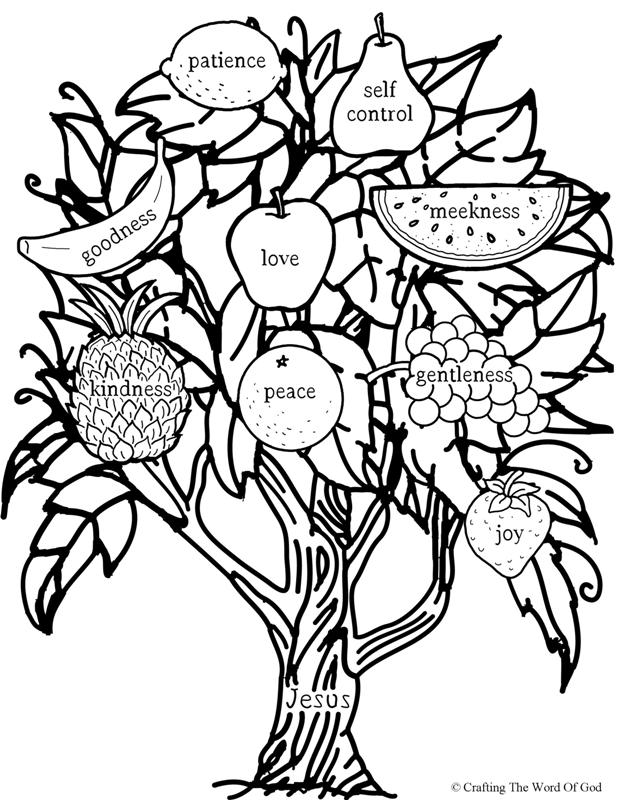 you will bear fruit coloring page crafting the word of god Nordic Gods you will bear fruit coloring page