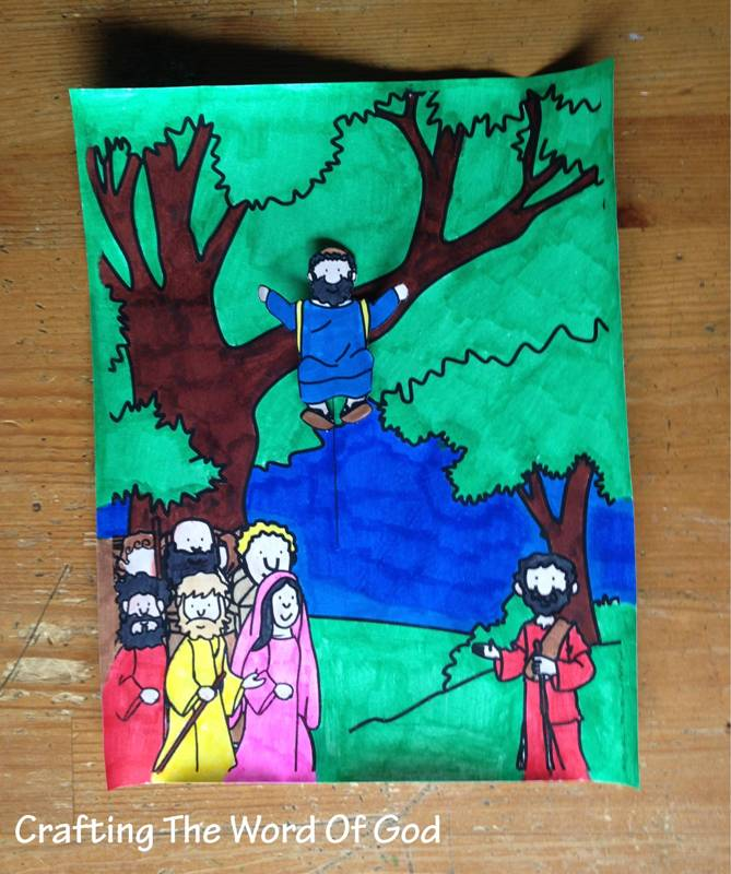 sycamore tree preschool zaccheus come 171 crafting the word of god 801