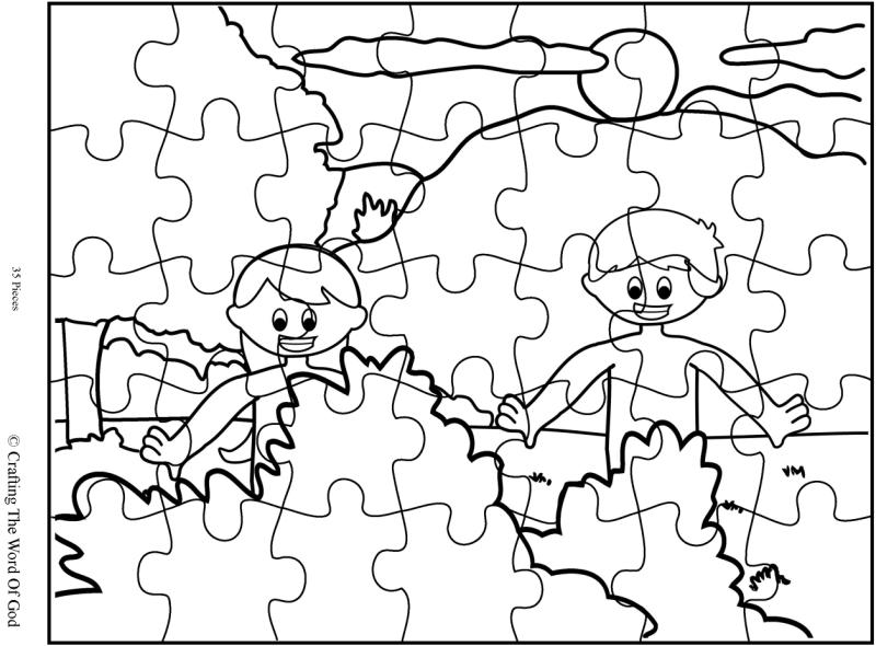 Adam And Eve Puzzle Activity Page Crafting The Word Of God