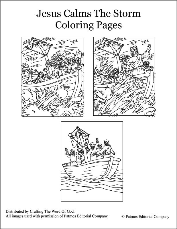 Jesus Calms The Storm- Coloring Pages « Crafting The Word Of God