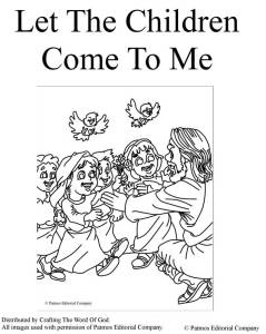 Let The Children Come To Me Coloring Page