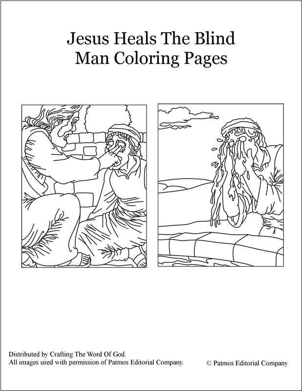 Jesus Heals The Blind Man Coloring Pages Crafting Word Of God
