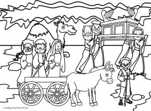 Crossing The Jordan Coloring Page