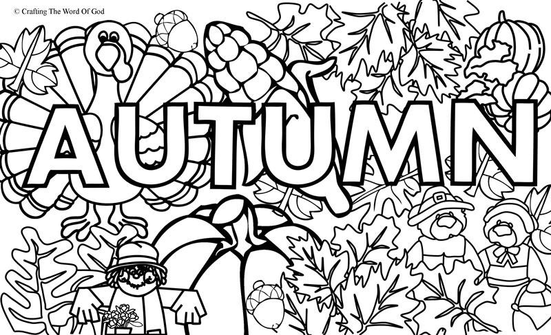Autumn Coloring Page 1- Coloring Page « Crafting The Word