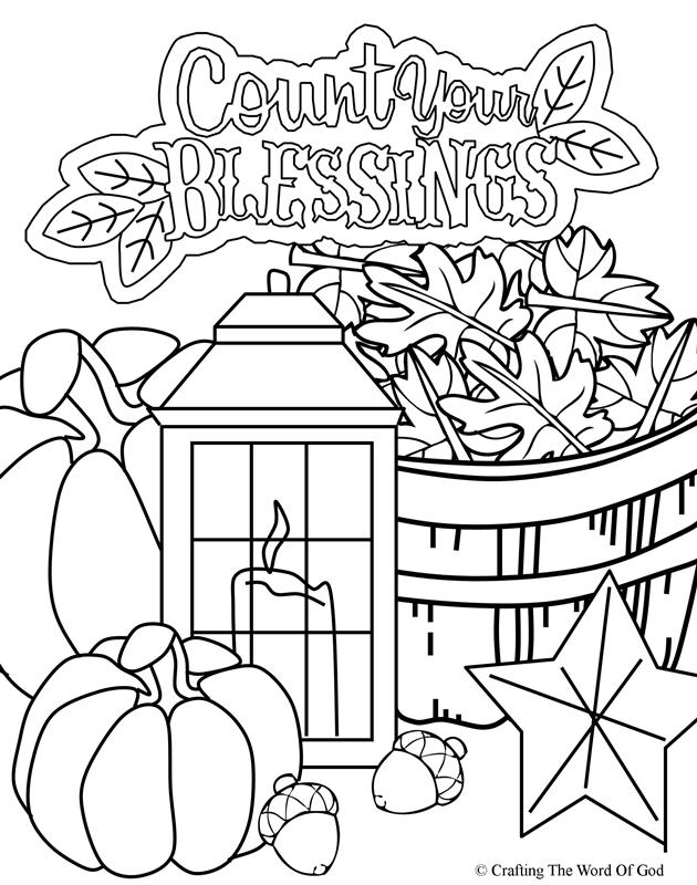 Thanksgiving Coloring Page 5- Coloring Page « Crafting The ...