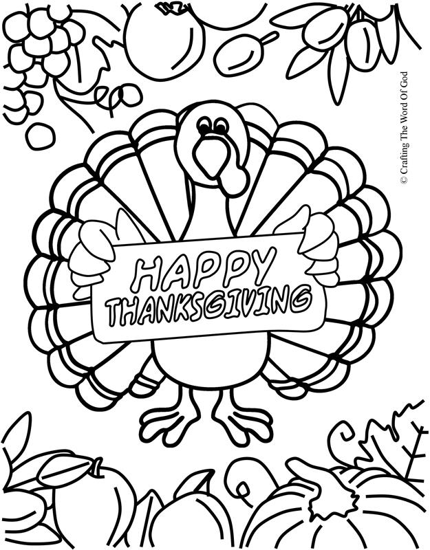 Thanksgiving coloring page 7 coloring page crafting the for Thanksgiving sunday school coloring pages