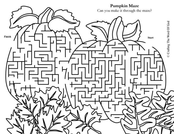 Thanksgiving Sunday School Coloring Mazes Coloring Pages