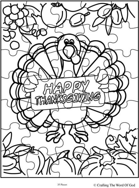 Thanksgiving Puzzle 14- Activity Page « Crafting The Word