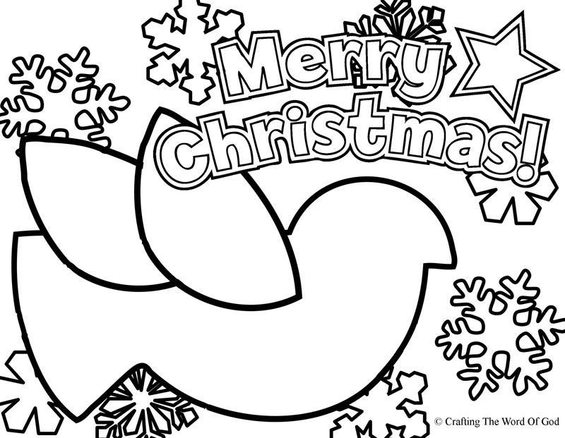 Christmas Dove- Coloring Page « Crafting The Word Of God