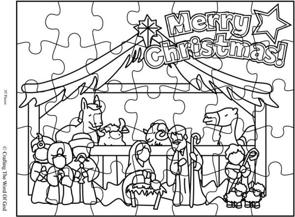 Christmas Nativity Puzzle- Activity Page « Crafting The
