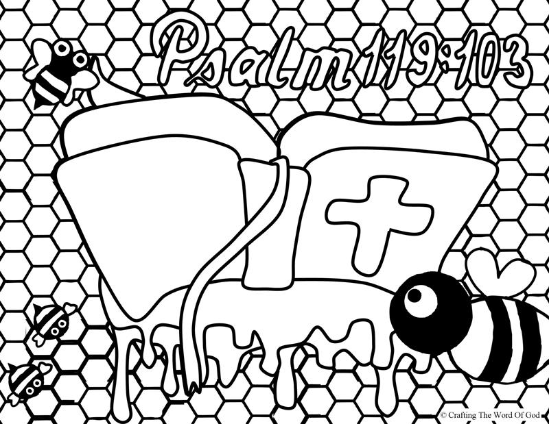 Your Word Sweeter Than Honey- Coloring Page « Crafting The ...