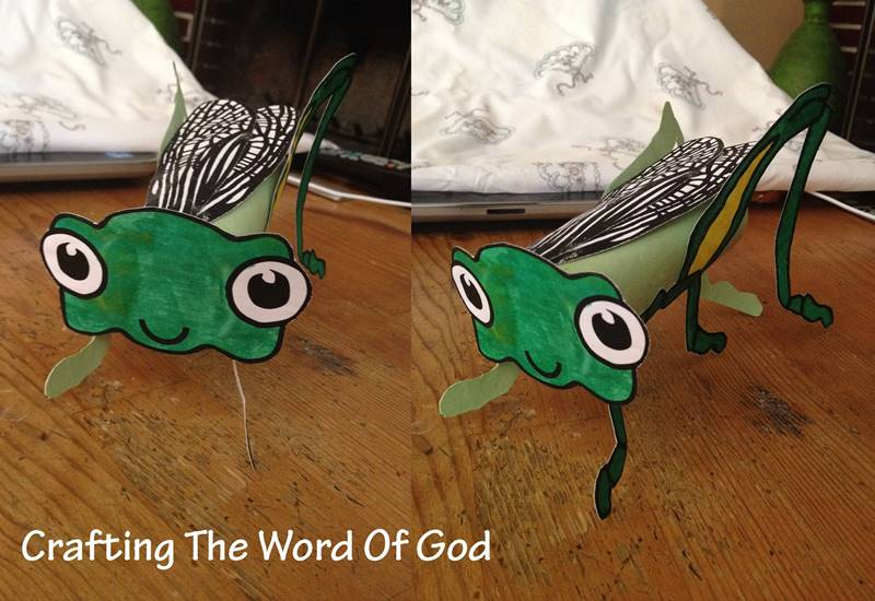 Toilet Paper Roll Grasshopper 171 Crafting The Word Of God