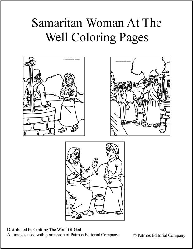samaritan woman at the well coloring pages crafting the word of god - Coloring Page Woman
