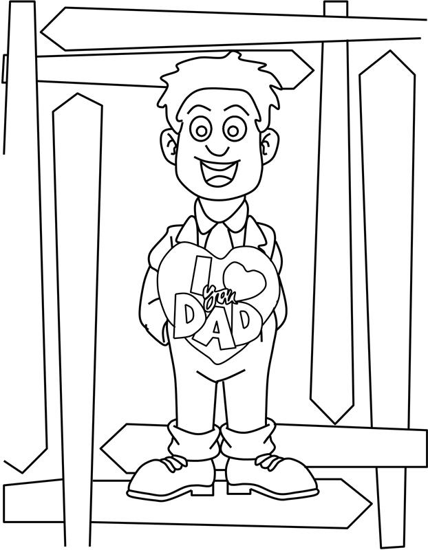 I Love You Dad Coloring Page 171 Crafting The Word Of God