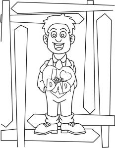fathers day coloring page « Crafting The Word Of God