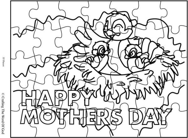 Mothers Day Mama Bird Puzzle