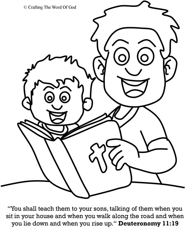 Teach Them To Your Sons- Coloring Page « Crafting The Word ...