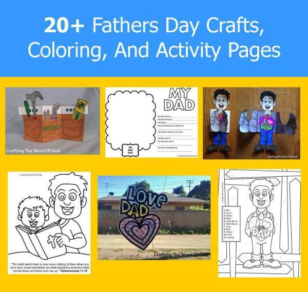 20+ Fathers Day Crafts, Coloring, And Activity Pages
