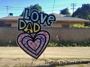 Love Dad Sun Catcher