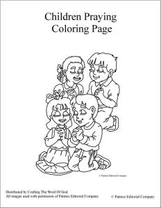children praying coloring page - Child Coloring Pages