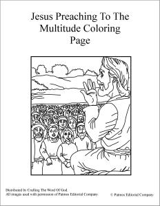 Jesus Preaching To The Multitude Coloring