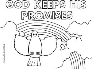God Keeps His Promises Coloring Page