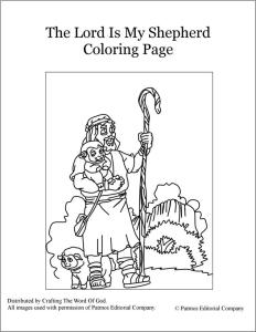 The Lord Is My Shepherd- Coloring Page « Crafting The Word