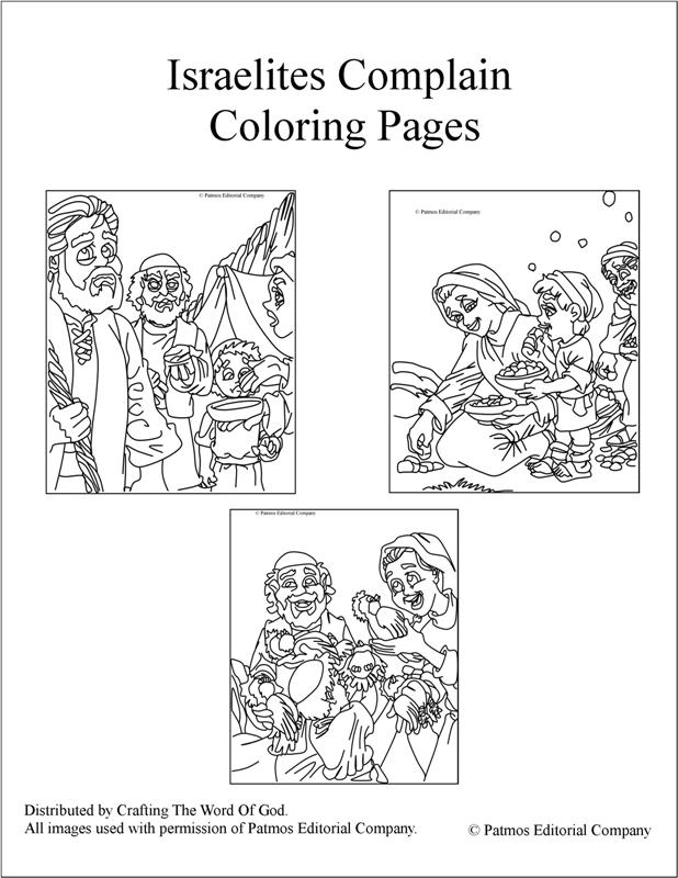 Israelites Complain Coloring Pages 171 Crafting The Word Of God