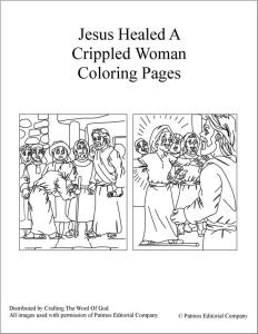 Jesus Healed A Crippled Woman Coloring Pages