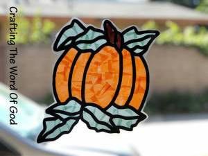 Pumpkin Sun Catcher 2